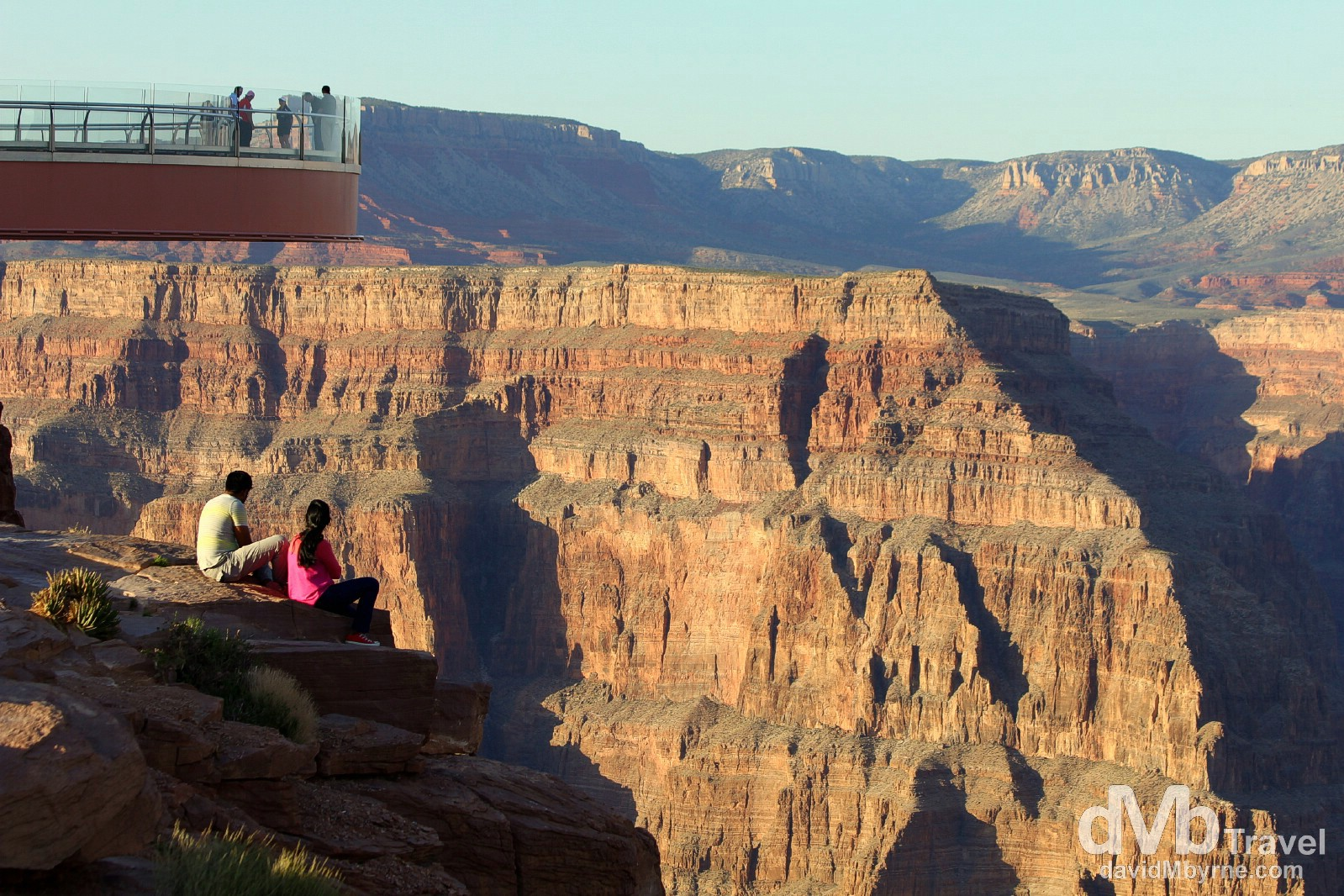 The Grand Canyon Skywalk at Eagle Point, The Grand Canyon West, Arizona, USA. April 6th 2013.