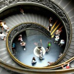 The spiral staircase in the Vatican Museums, Vatican City. September 3rd 2007.