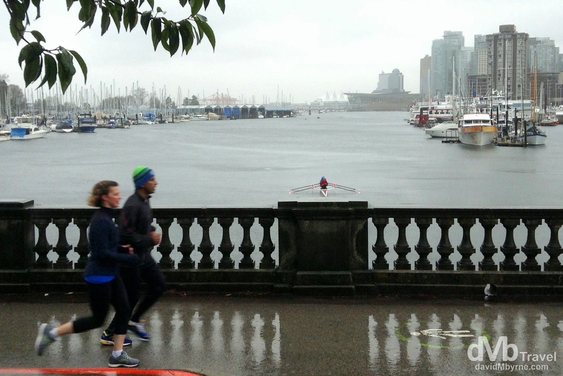Running in the rain in Stanley Park, Vancouver, British Columbia. Canada. March 20th 2013. (iPod)