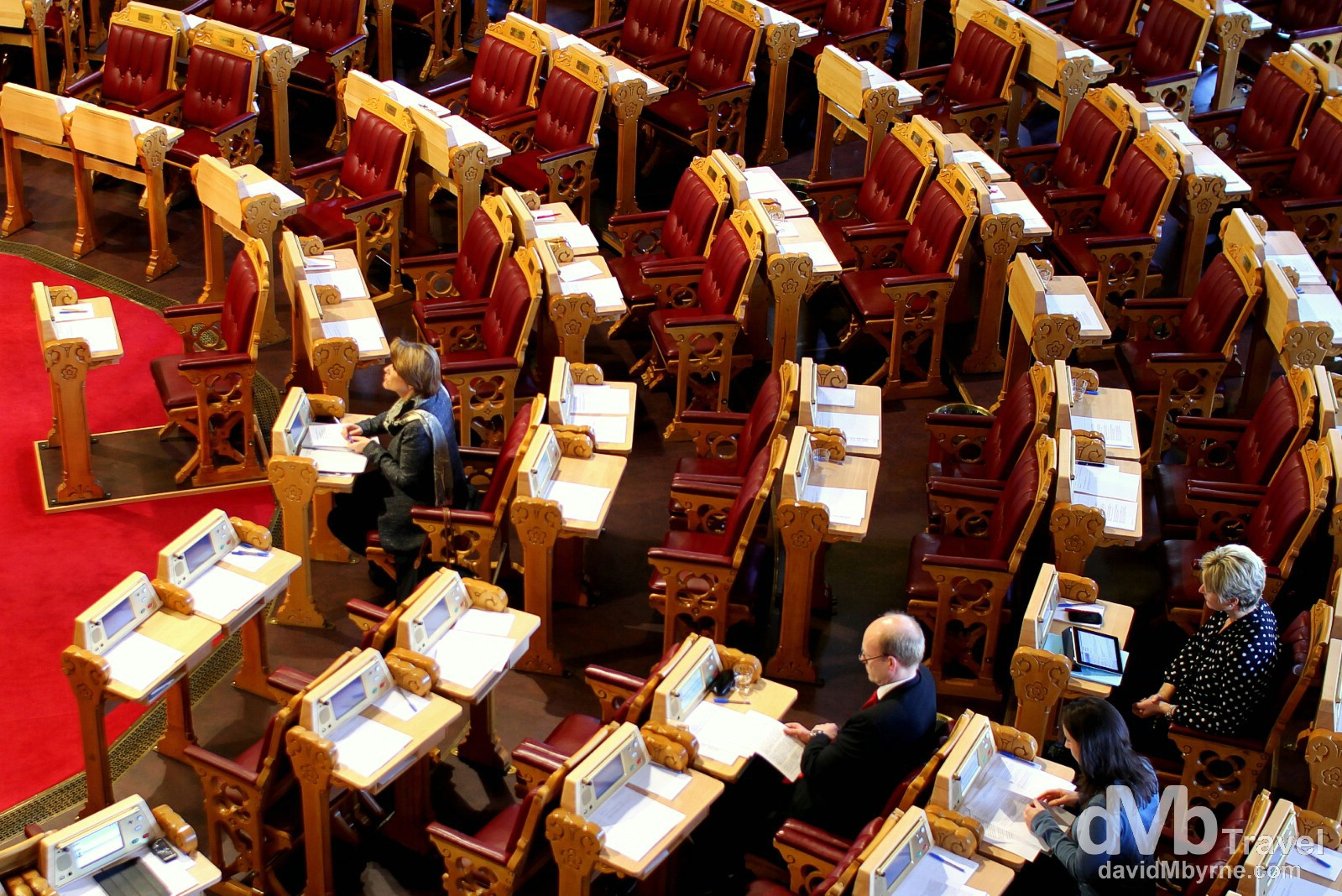 A chamber of Stortinget (Parliament) in Oslo, Norway. November 29th 2012.