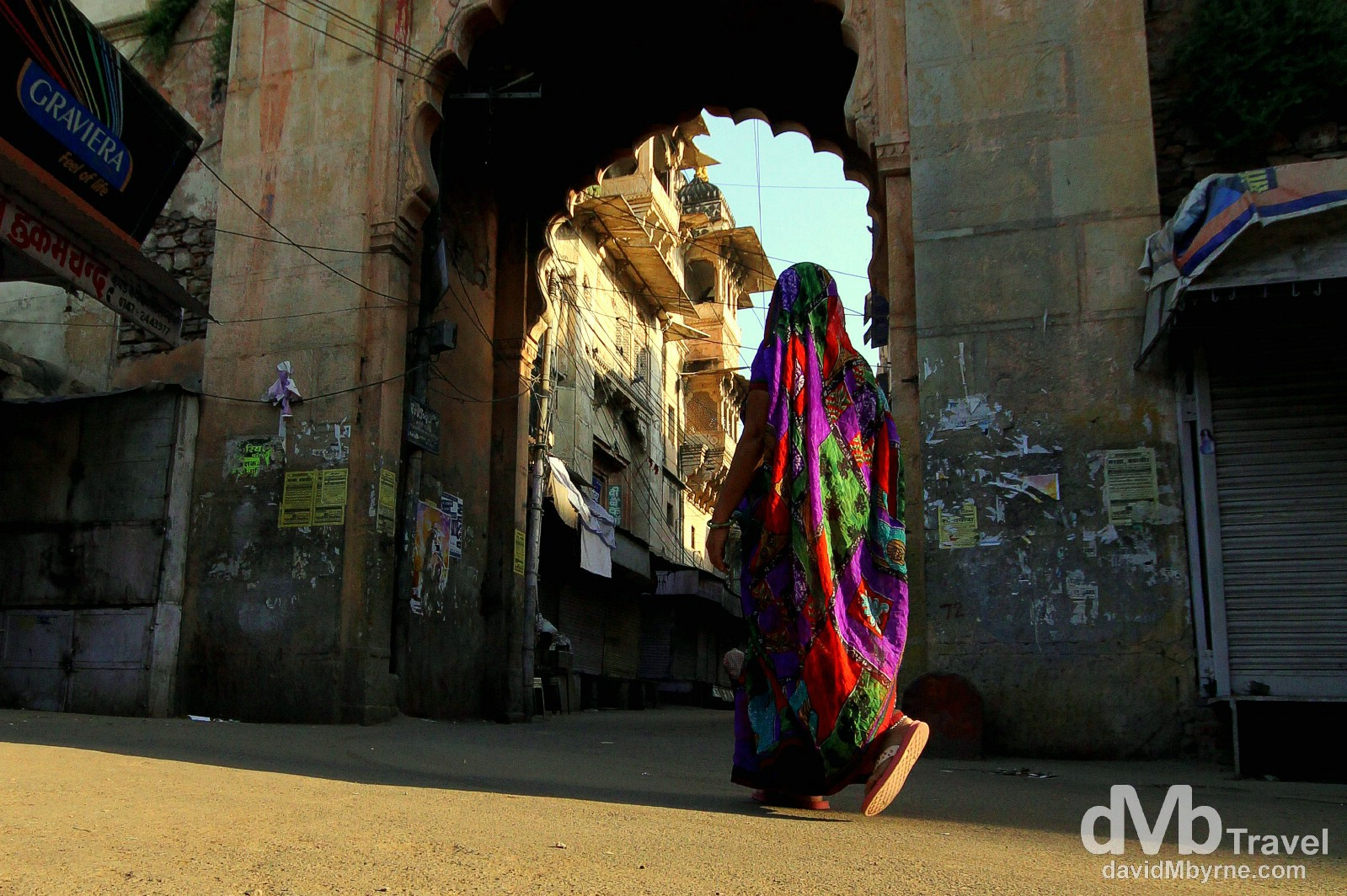 Sunrise on the streets of Bundi, Rajasthan, India. October 2nd 2012.