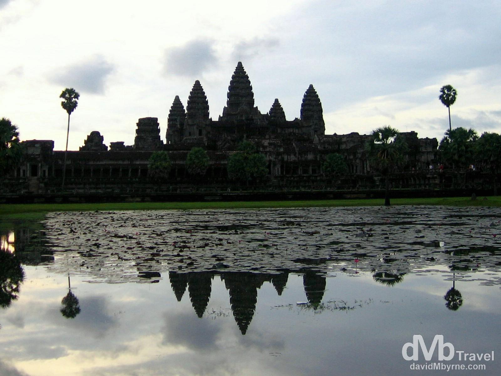 Dawn at Angkor Wat of the Angkor temples, Cambodia. September 20th 2005.