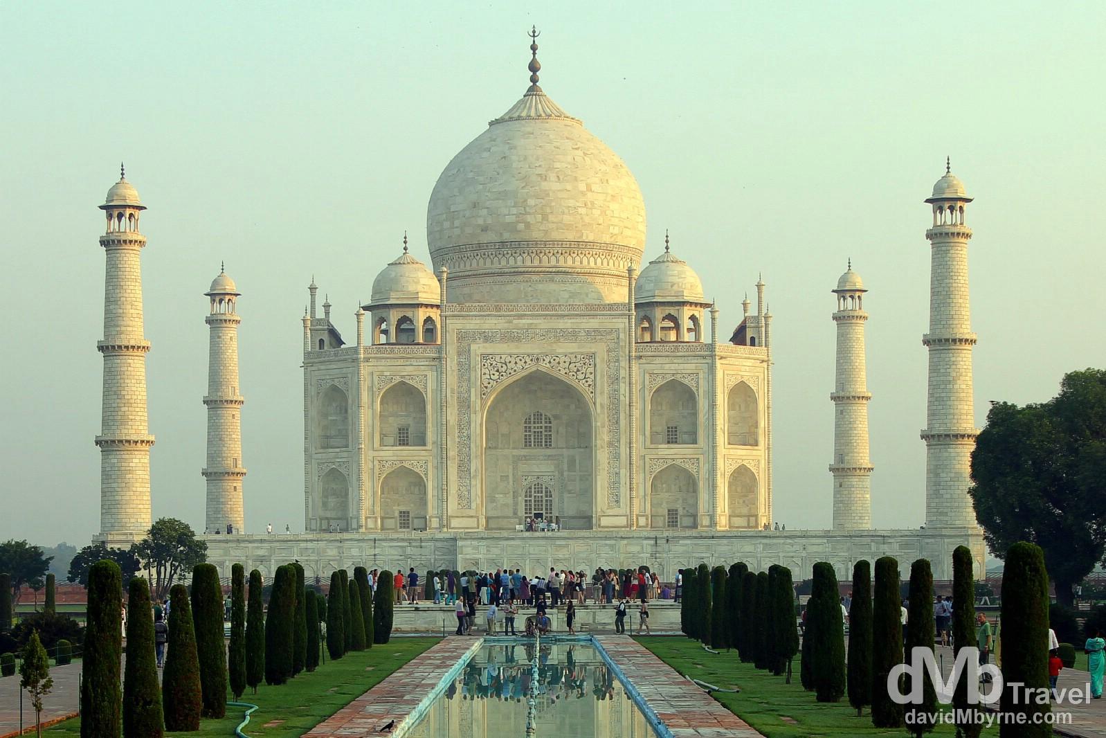 The TaJ Mahal shortly after sunrise. Agra, Uttar Pradesh, India. October 11th 2012.