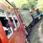 Taking in the views from the Badulla to Colombo train in central Sri Lanka. September 5th 2012.