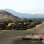 The Piramide de la Sol (Pyramid of the Sun) & Calzada de los Muertos (Avenue of the Dead) in Teotihuacan, Mexico. April 29th 2013.