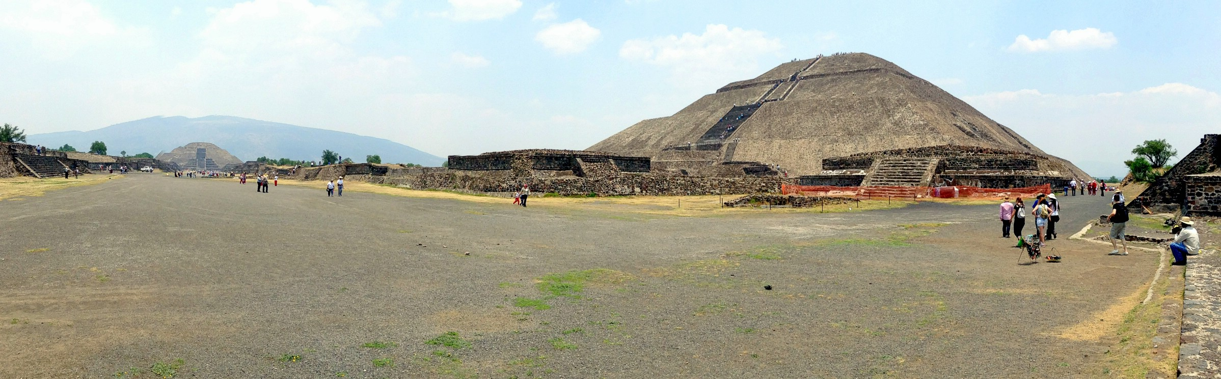 An iPod panorama of Teotihuacan, Mexico. April 29th 2013.