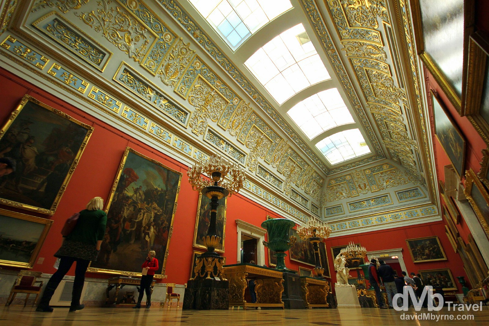 A section of the Hermitage Museum in the Winter Palace, St Petersburg, Russia. November 22nd 2012.