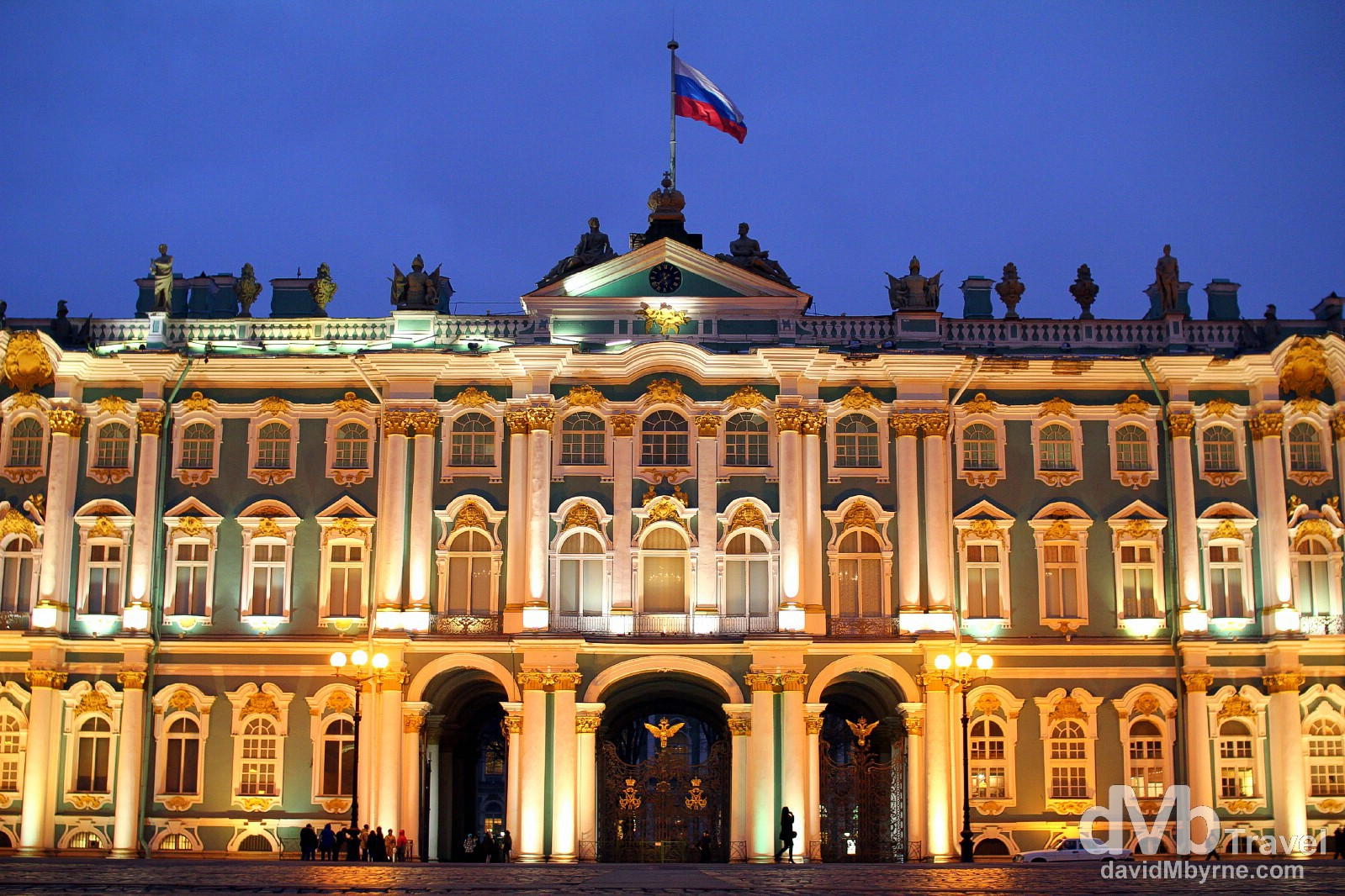 A section of the imposing façade of The Winter Palace in Palace Square, St Petersburg, Russia. November 22nd 2012.