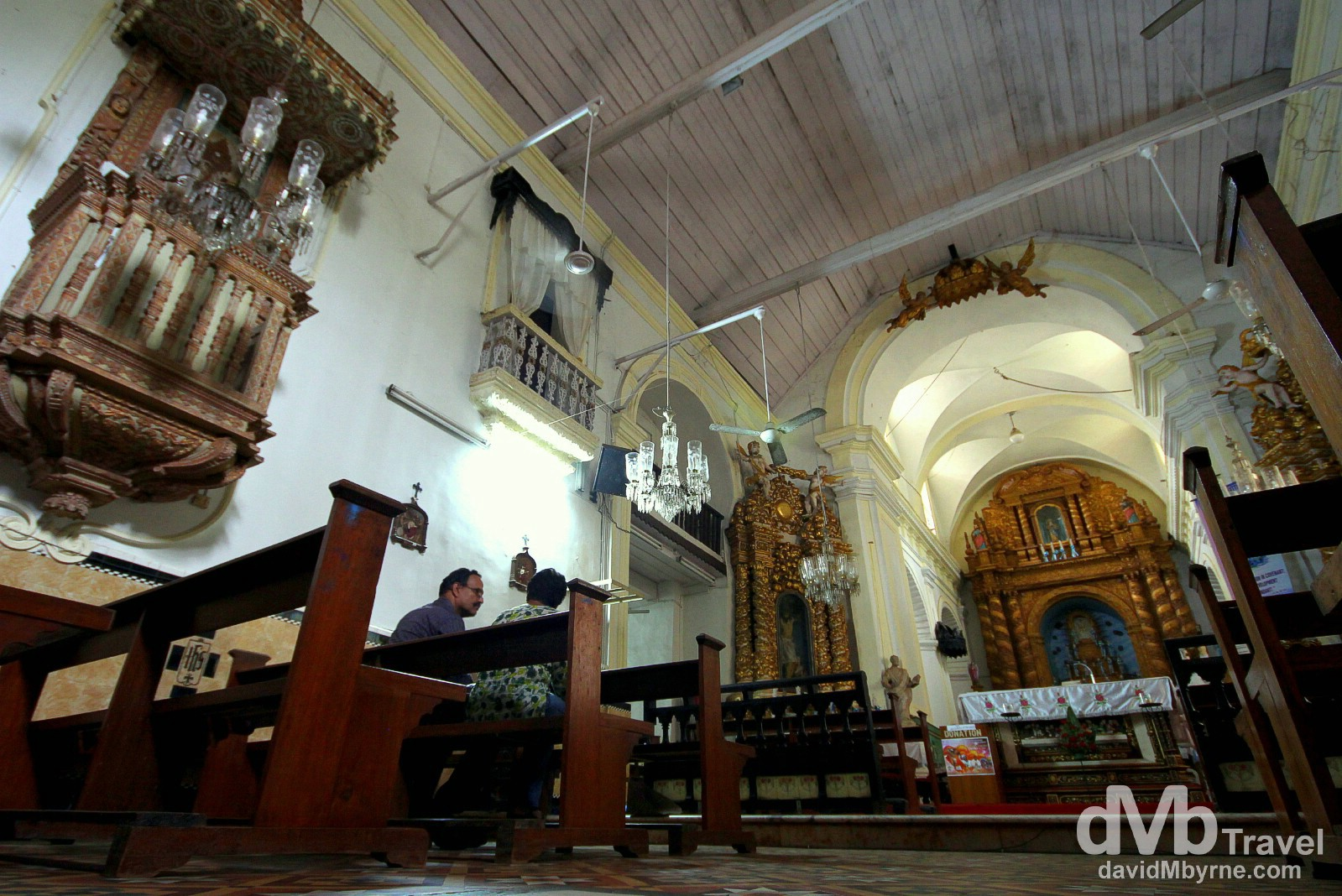 Inside the Church Of Our Lady Of The Immaculate Conception, Panaji, Goa, India. September 28th 2012.