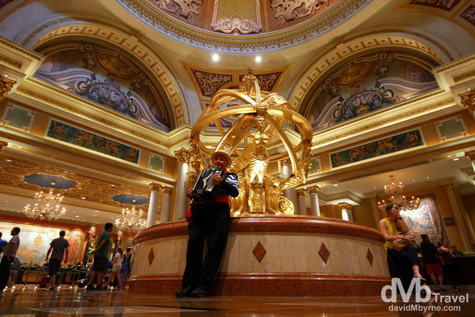 The reception of the Venetian Resort Hotel & Casino, <strong srcset=