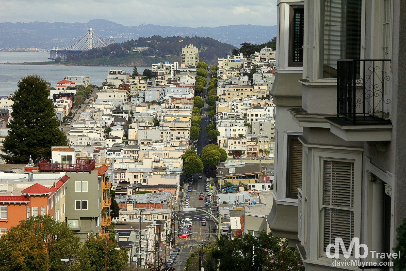 The view from Lombard Street, San Francisco, California, USA. March 31st 2013.
