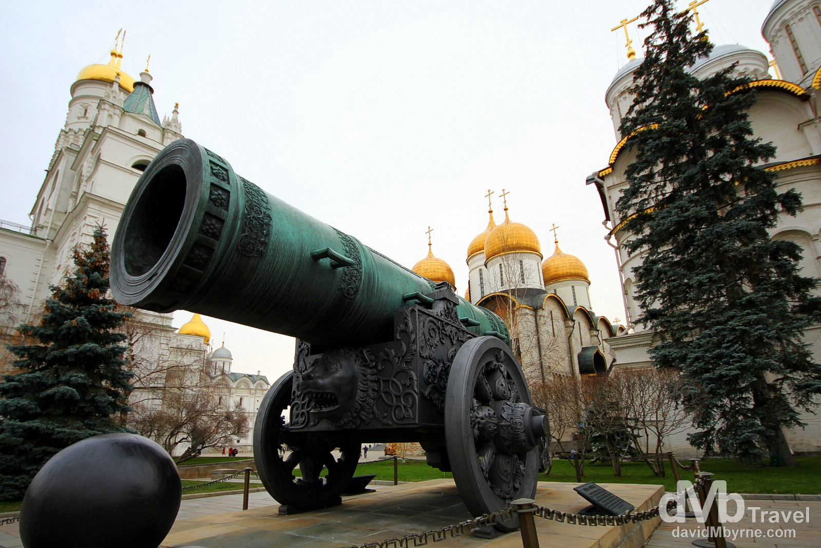 The Tsar Cannon in the grounds of The Kremlin in Moscow, Russia. November 19th 2012.