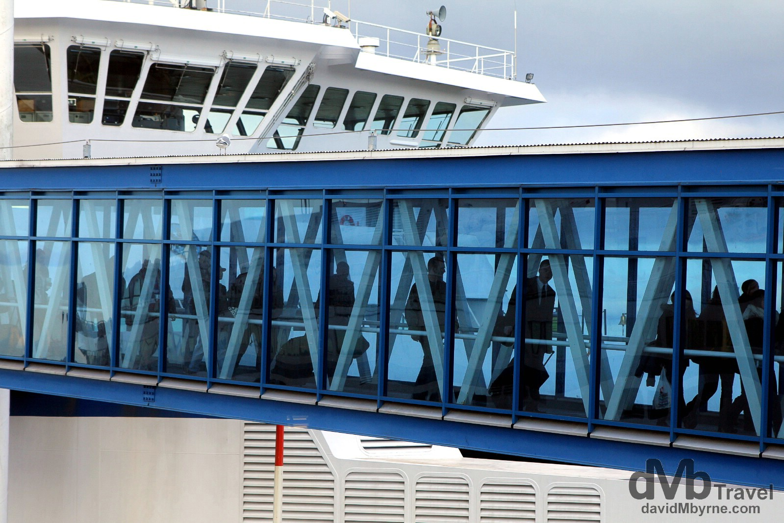 Disembarking BC Ferries at Tsawwassen Ferry Terminal, British Columbia, Canada. March 22nd 2013.