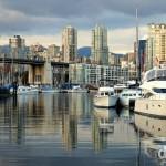 Burrard Civic Marina near Granville Island, Vancouver, British Columbia, Canada. March 23rd 2013.