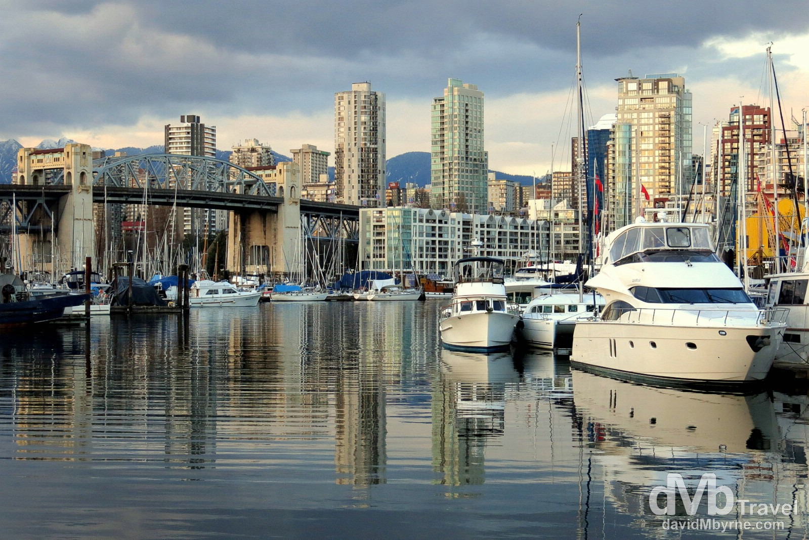 Burrard Civic Marina near Granville Island, Vancouver, British Columbia, Canada. March 23rd 2013.