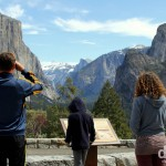 Admiring the Yosemite Valley from Tunnel View in Yosemite National Park, California, USA. April 2nd 2013.