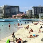 Waikiki Beach, Oahu, Hawaii, USA. March 8th 2013.