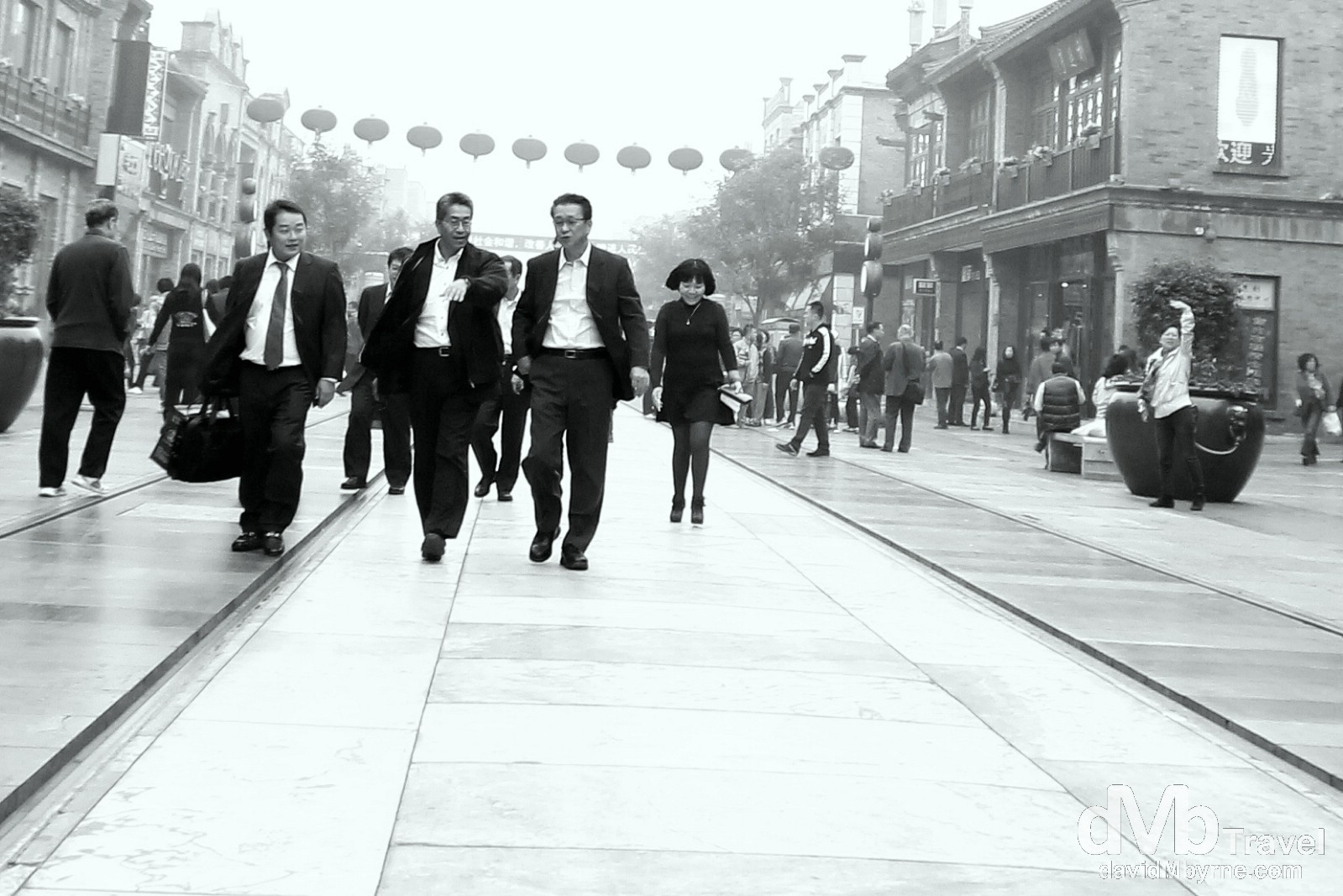 On the march in the Qianmen district of Beijing, China. October 26th 2012.