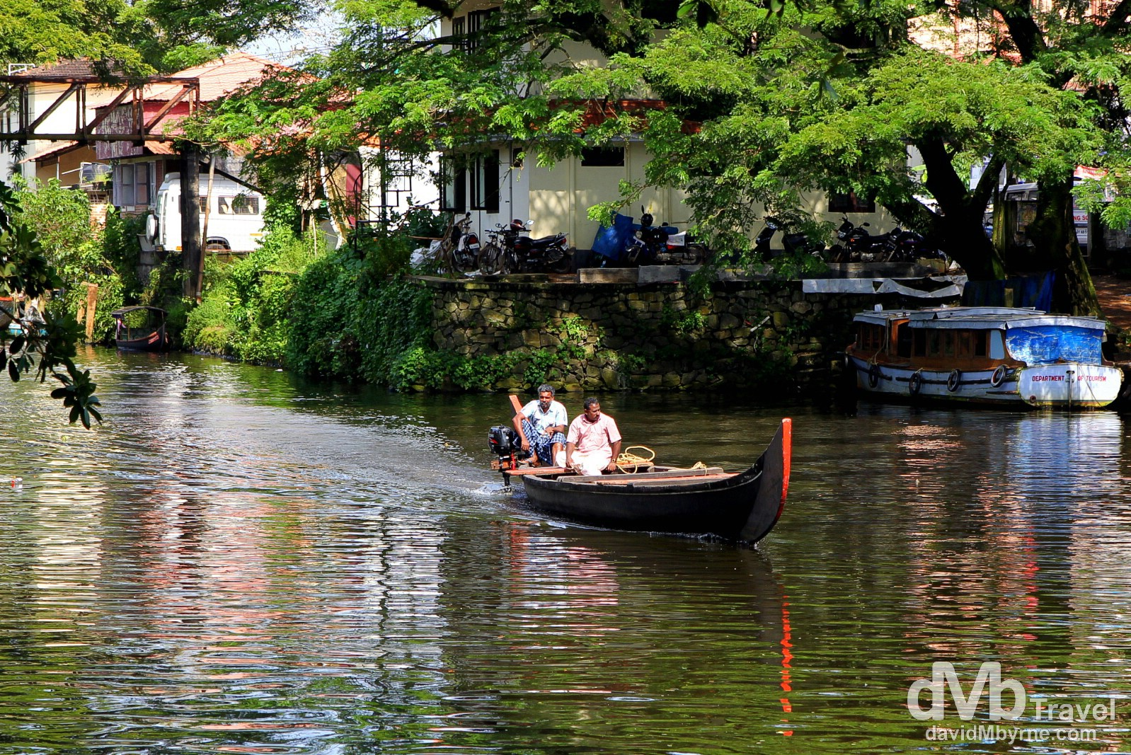 Waterways in Alleppey, Kerala, India. September 17th 2012.