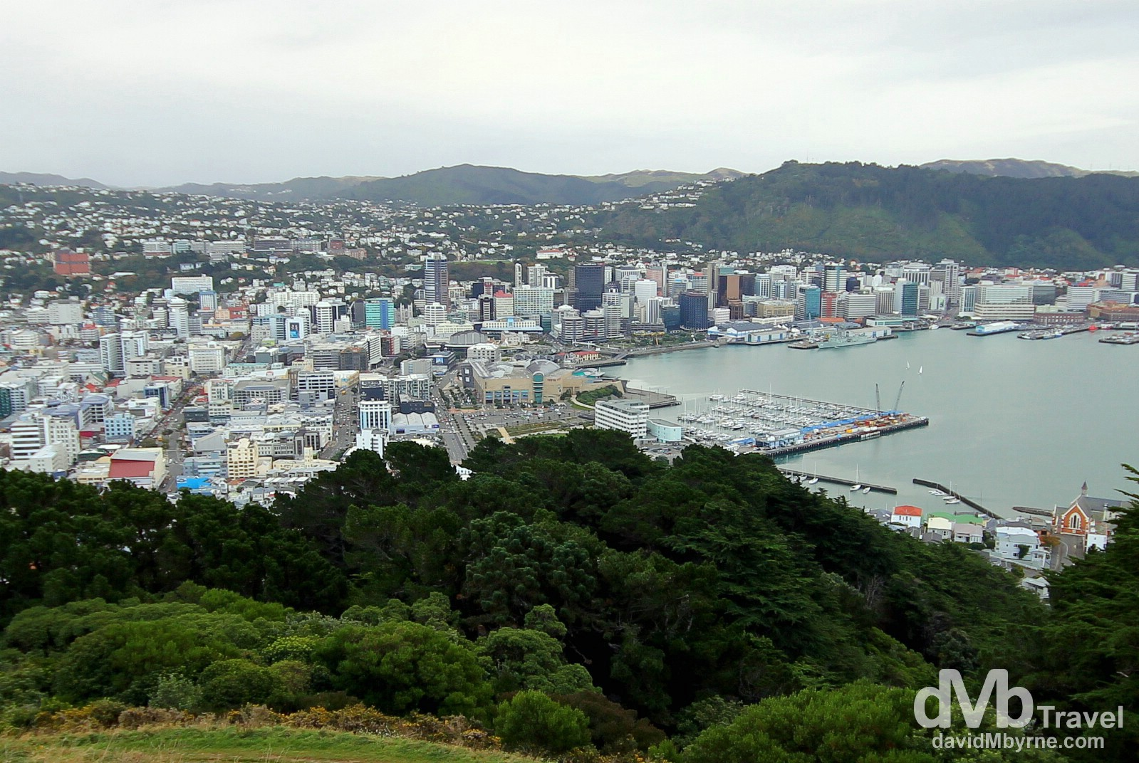 Wellington, North Island, New Zealand, as seen from the Mount Victoria lookout over the city. May 11th 2012.