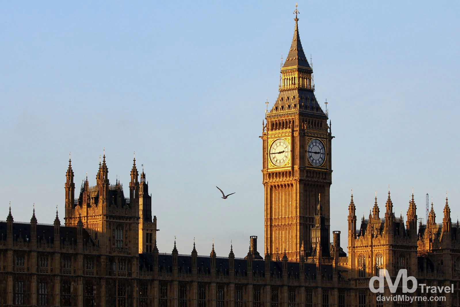 Big Ben & the Houses of Parliament in London, England. December 8th 2012.