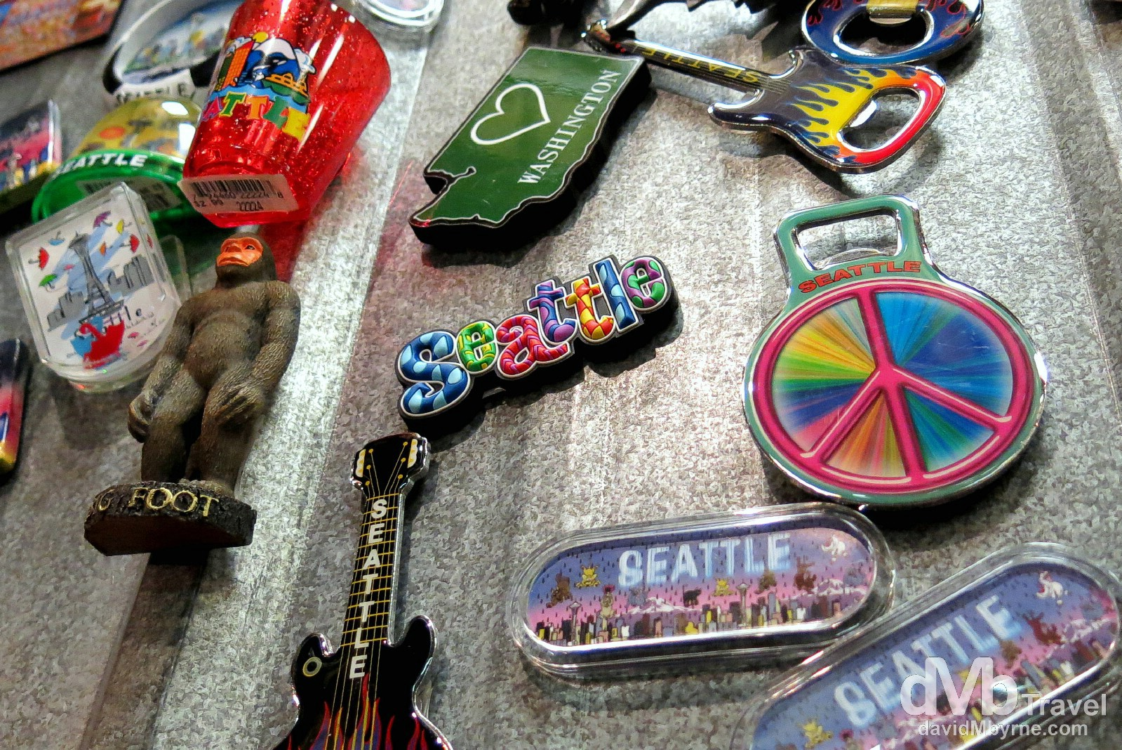 "Fridge magnets in Ye Olde Curiosity Shop, Seattle. Ye Olde Curiosity Shop has been here in one form or another since 1899, in continuous operation by the same family. The narrow, cluttered gift novelty store -- a mainstay of Seattle tourism -- never fails to please and revolt. Although a shop first & foremost, the resident (American, not Egyptian) mummies, Sylvester and Sylvia, are its biggest draw. Other Shop denizens include a virtual family of Barnum Mer-creatures: a Mermaid, a Mer-Baby, and a Mer-dog named ""Petri-Fido."" The requisite freak pig in a jar shares space with a ship scale model constructed entirely of matchsticks. There is a 350-year-old ""African voodoo monkey"" -- its intestines have been removed and braided onto its head. Curious indeed and a Seattle must-see. Ye Olde Curiosity Shop, Seattle, Washington, USA. March 26th 2103."