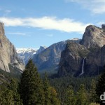 Yosemite Valley as seen from Tunnel View. Yosemite National Park, California, USA. April 2nd 2013.