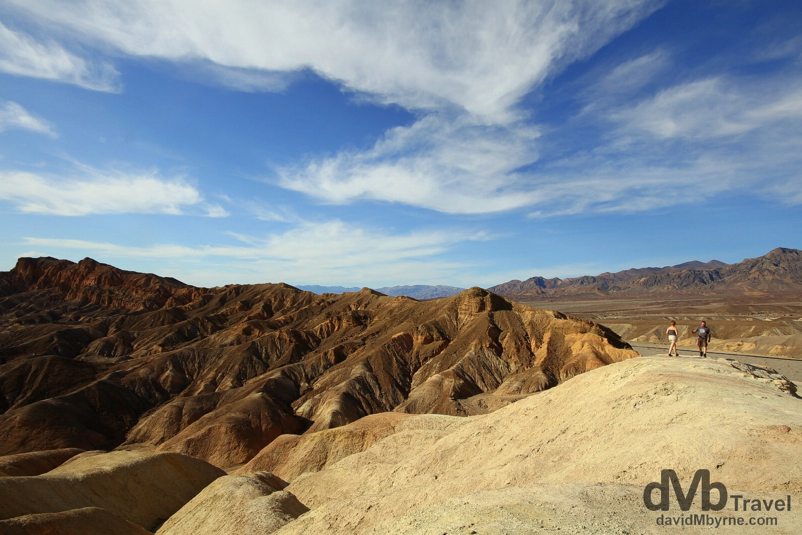 Zabriskie Point, Death Valley National Park, California, USA. April 3rd 2013.