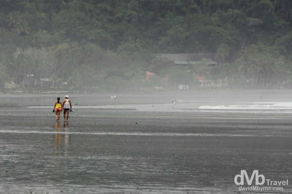 Walking on the beach in Jaco, Costa Rica. June 24th 2013.