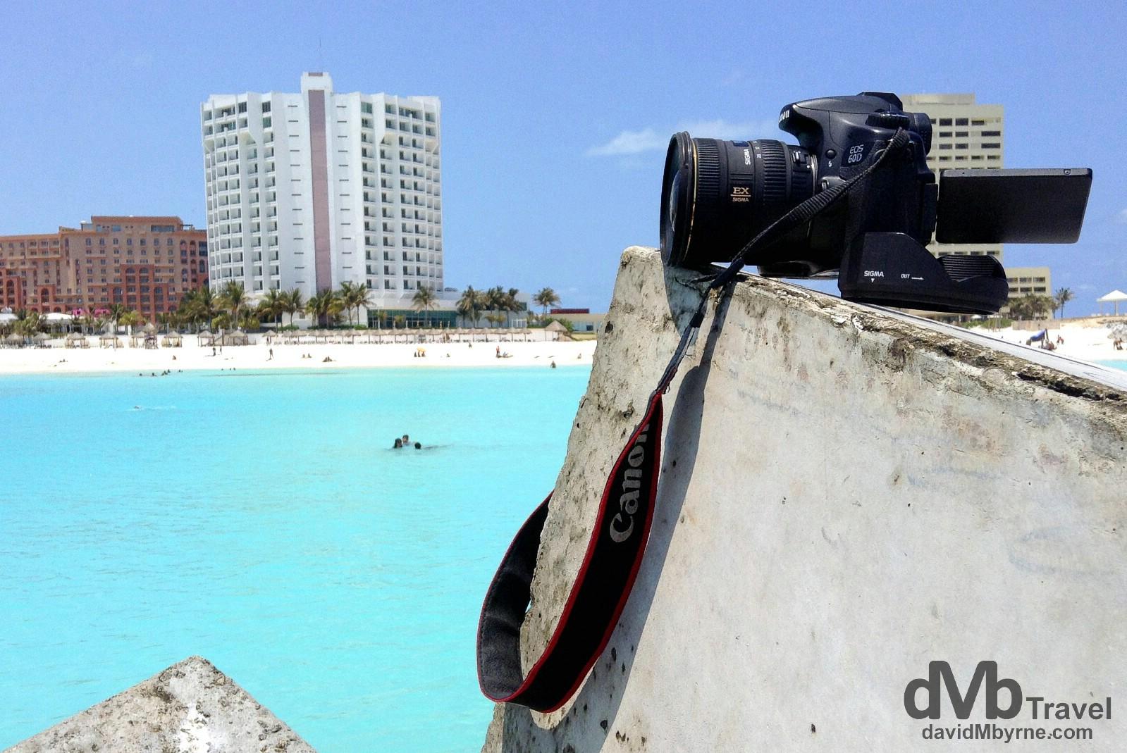 Capturing the action at Punta Cancun, Cancun, Yucatan, Mexico. May 5th 2013.