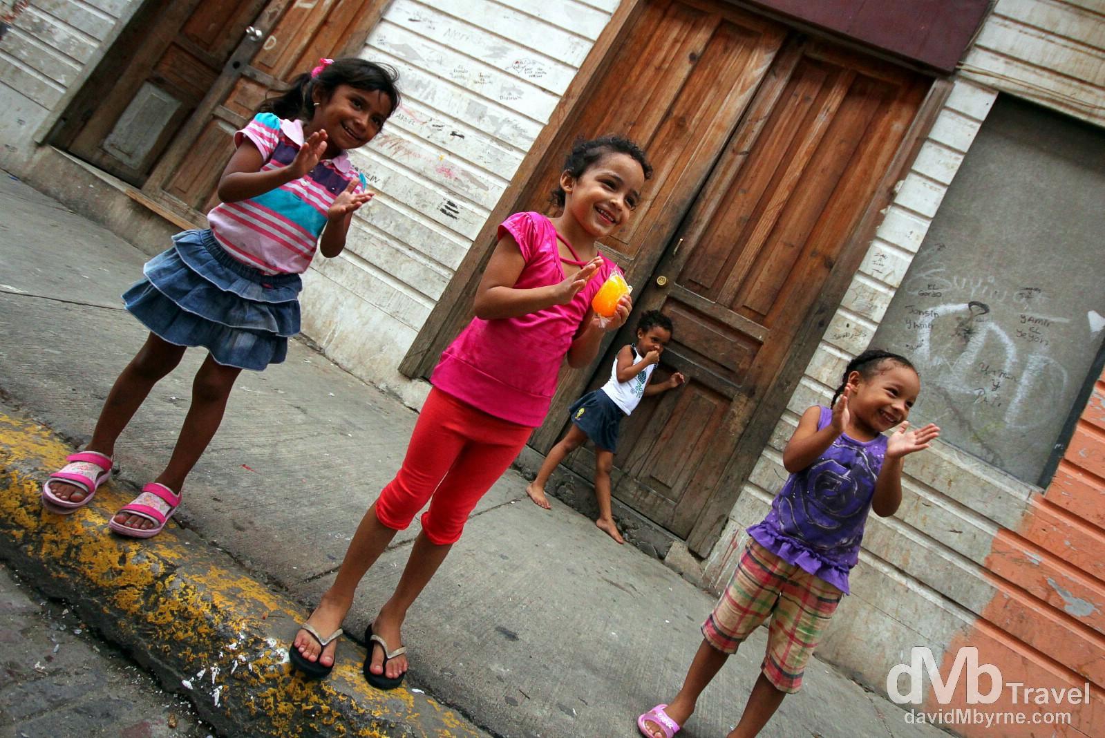 Children on the streets of Casco Viejo, Panama City, Panama. July 1st 2013.
