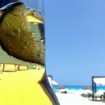 Corona bubbles & lime on Gaviota Azul, Cancun, Yucatan, Mexico. May 5th 2013. (iPod)