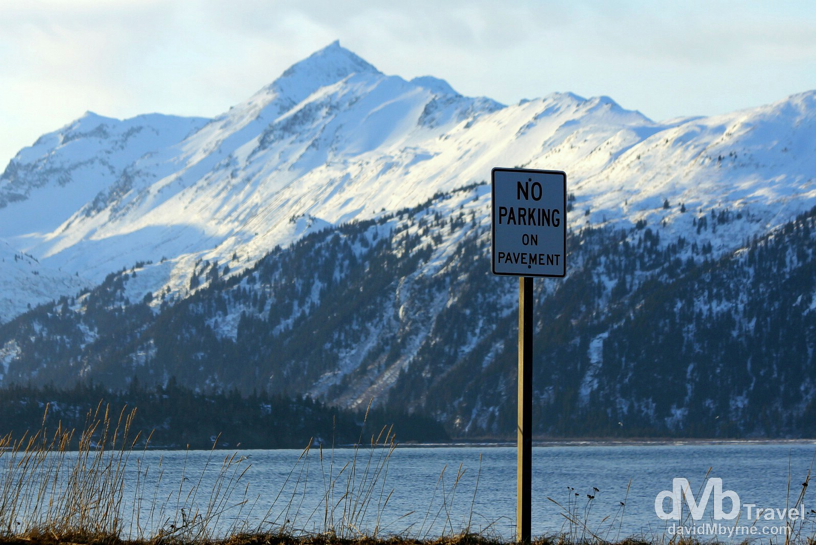 No Parkring. The Spit, Homer, Kenai Peninsula, Alaska, USA. March 18th 2103.