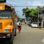 The bus to Rivas parked in San Juan Del Sur, Nicaragua. June 22nd 2013.
