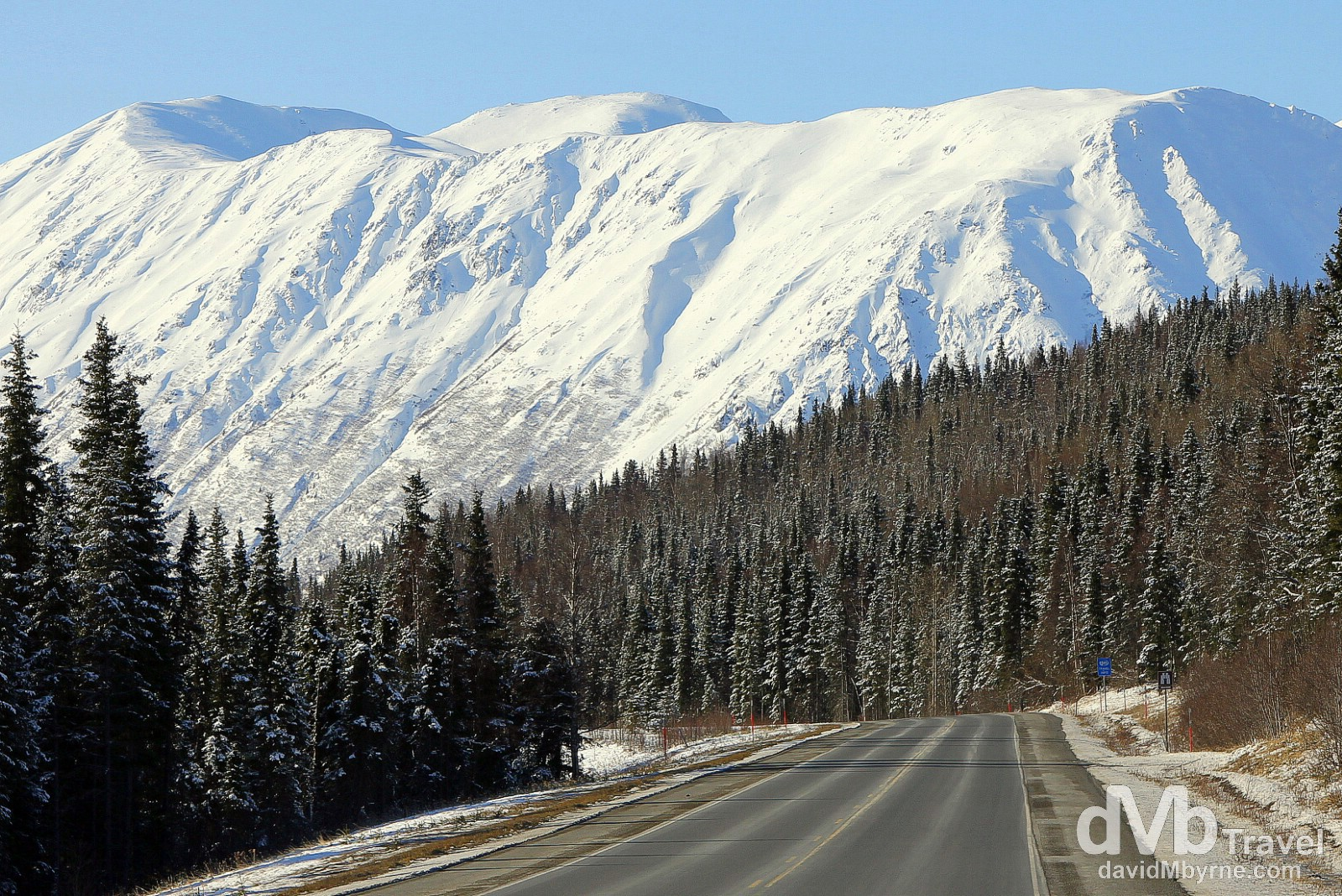Driving the Sterling Highway, Kenai Peninsula, Alaska, USA. March 18th 2013.