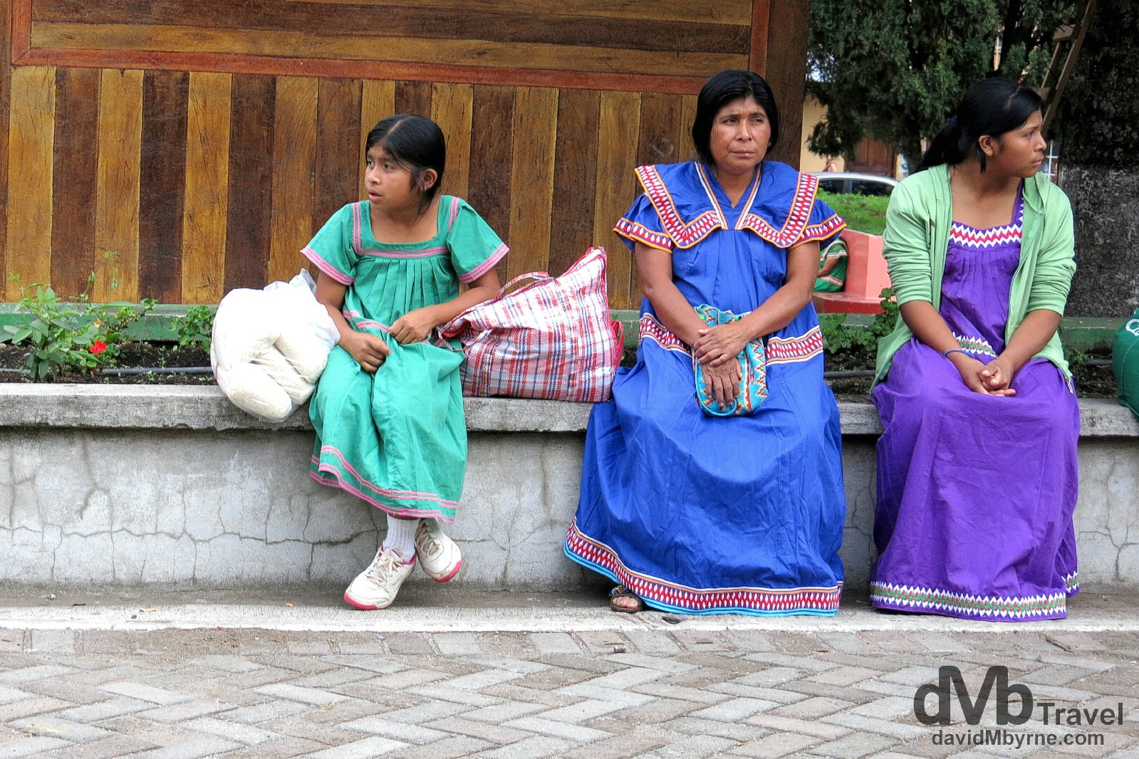 Local villagers in the mountain-valley town of Boquete, Panama. June 29th 2013.