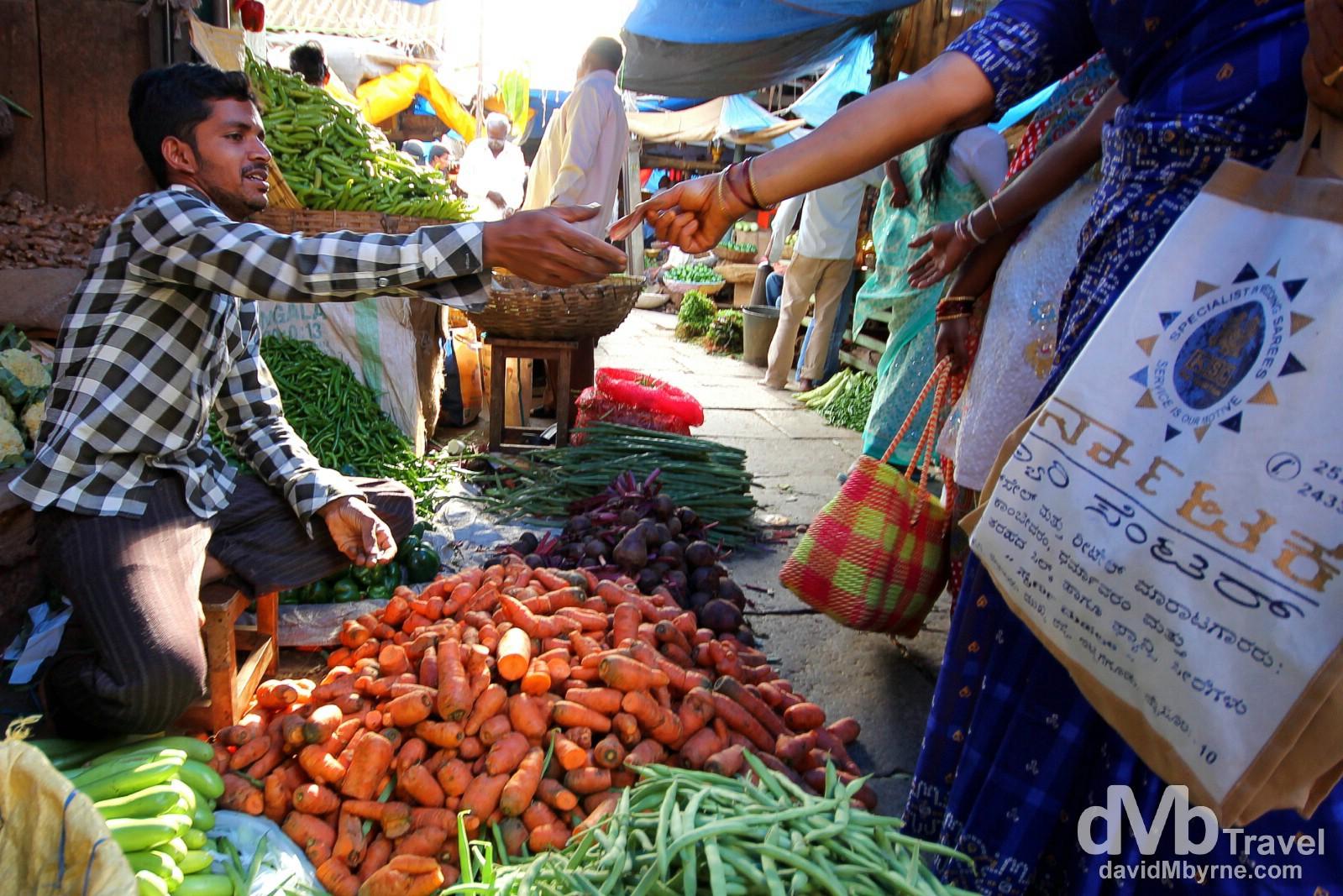 Devaraja Market, Mysore, Karnataka, India. September 21st 2012