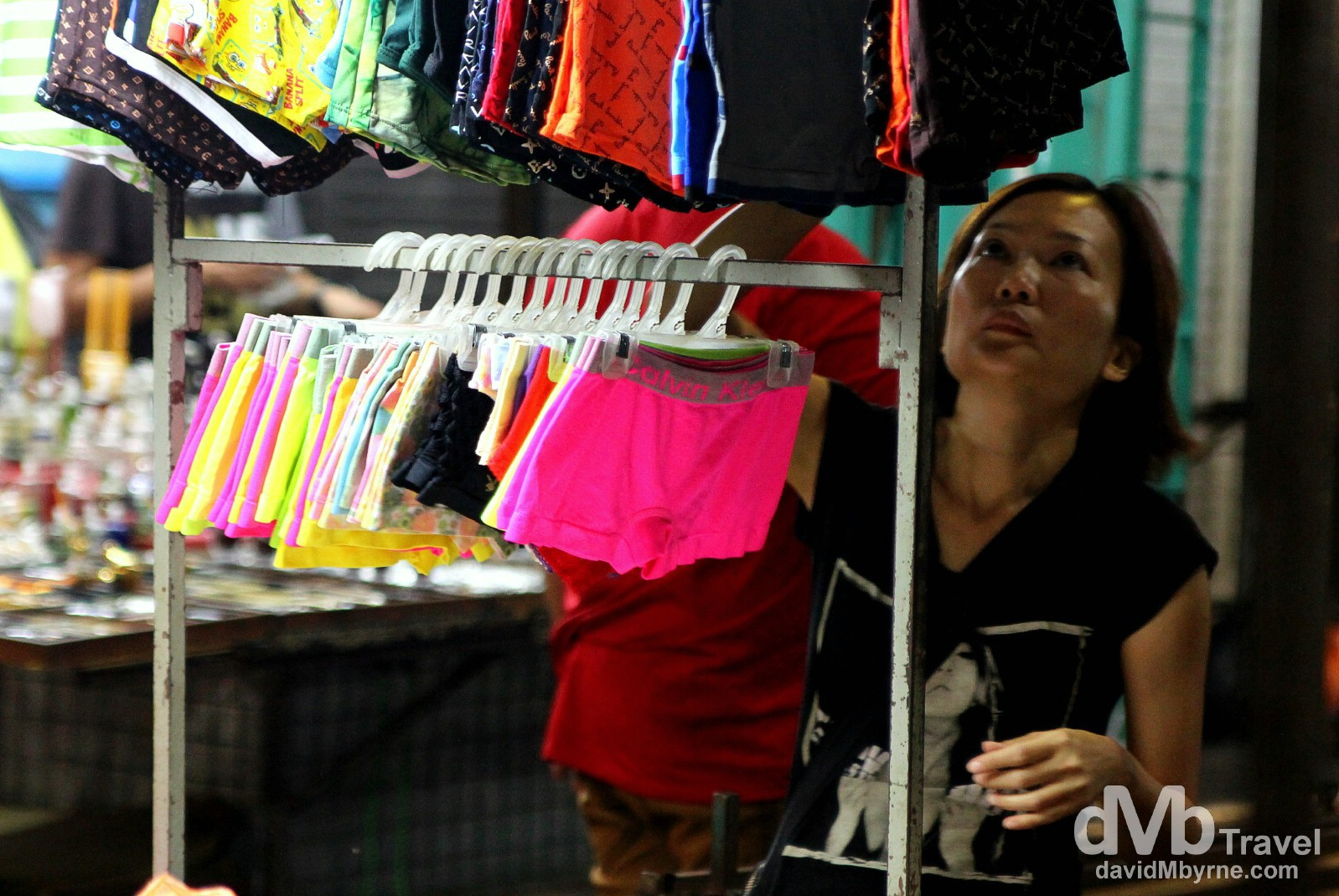 A trader in Petaling Street Market, Kuala Lumpur, Malaysia. March 30th 2012.