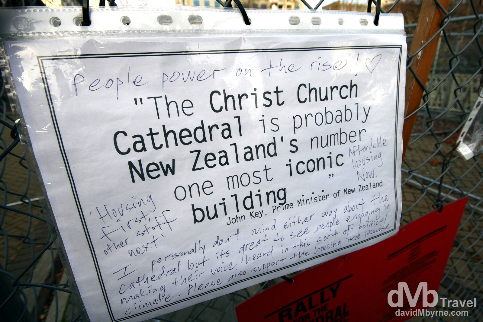 Earthquake-hit Christchurch, South Island, New Zealand. June 2nd 2012