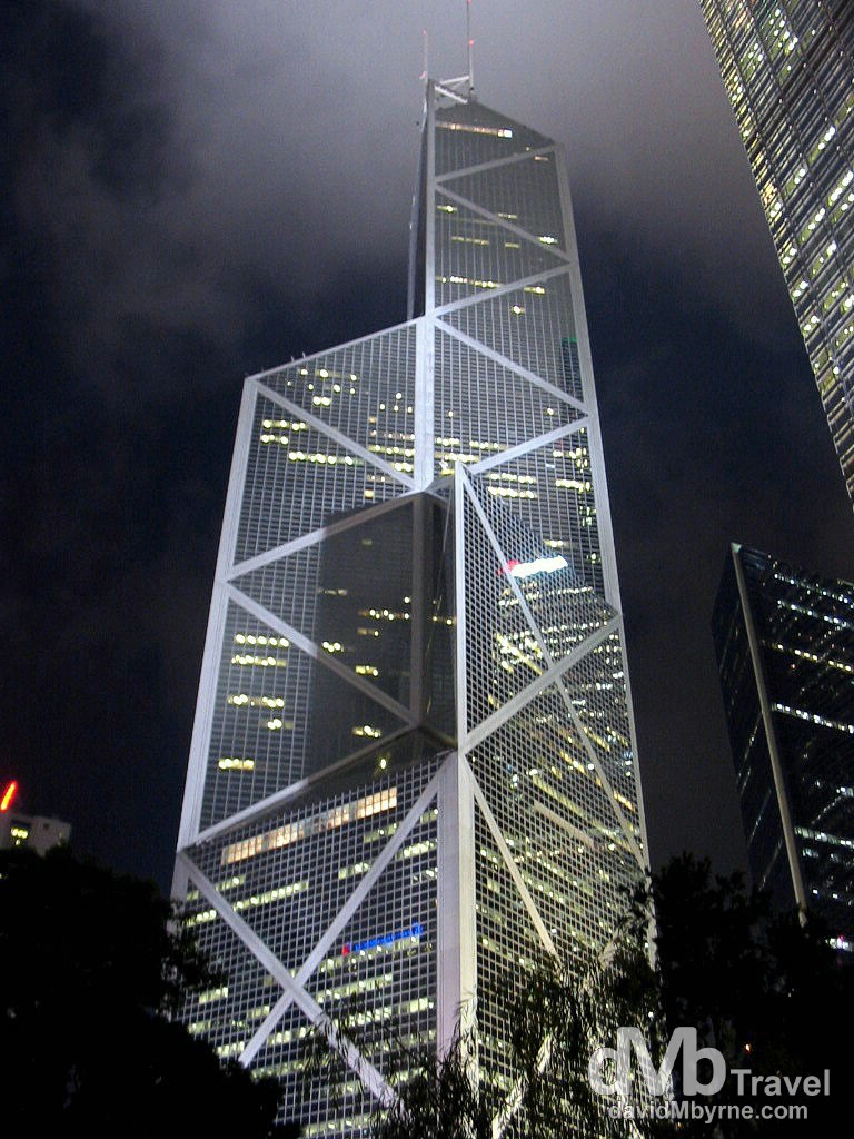 The Bank of China Tower in Central, Hong Kong, China. September 2nd, 2004.