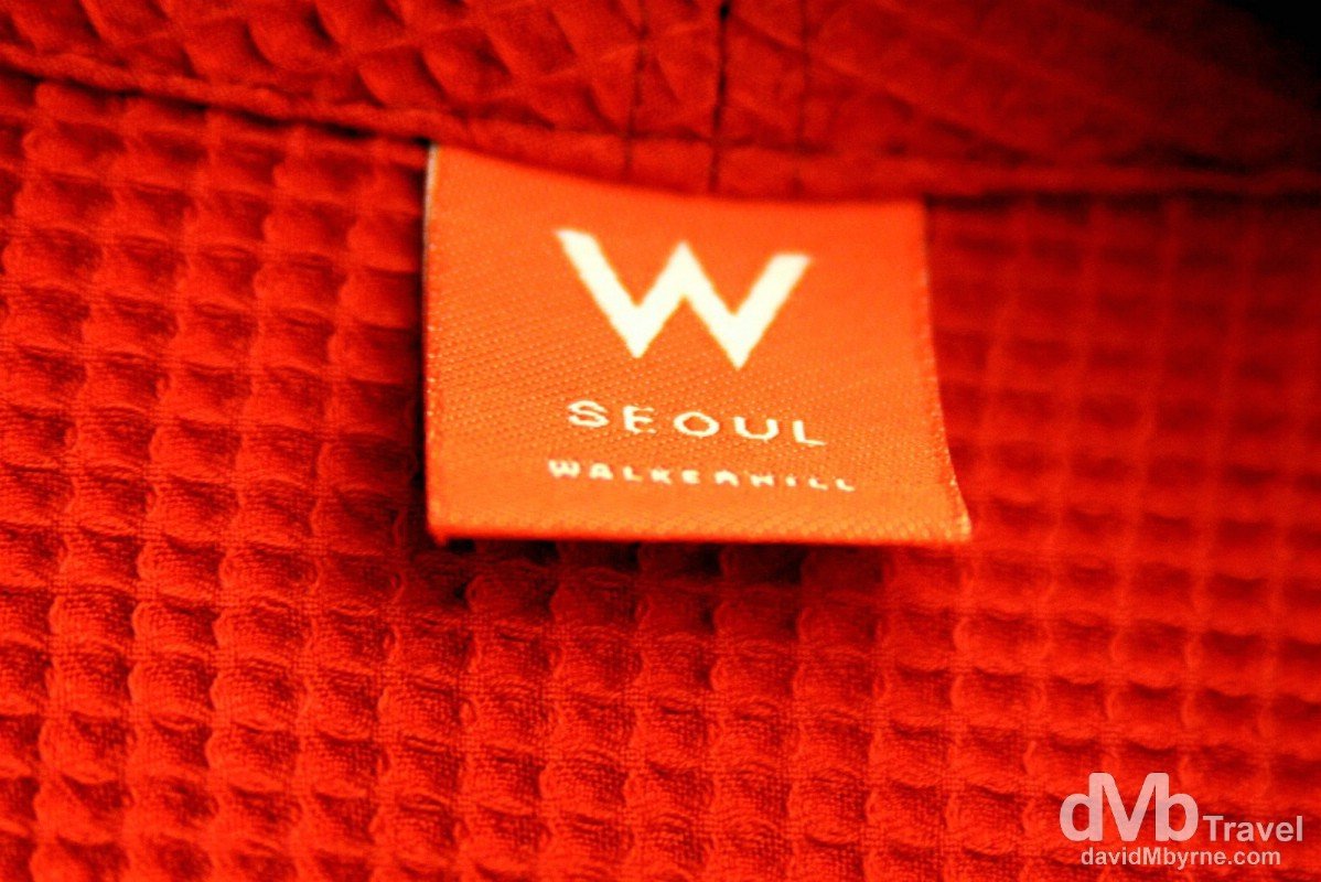 W Hotel bathrobe, W Hotel, Walkerhill, Seoul.