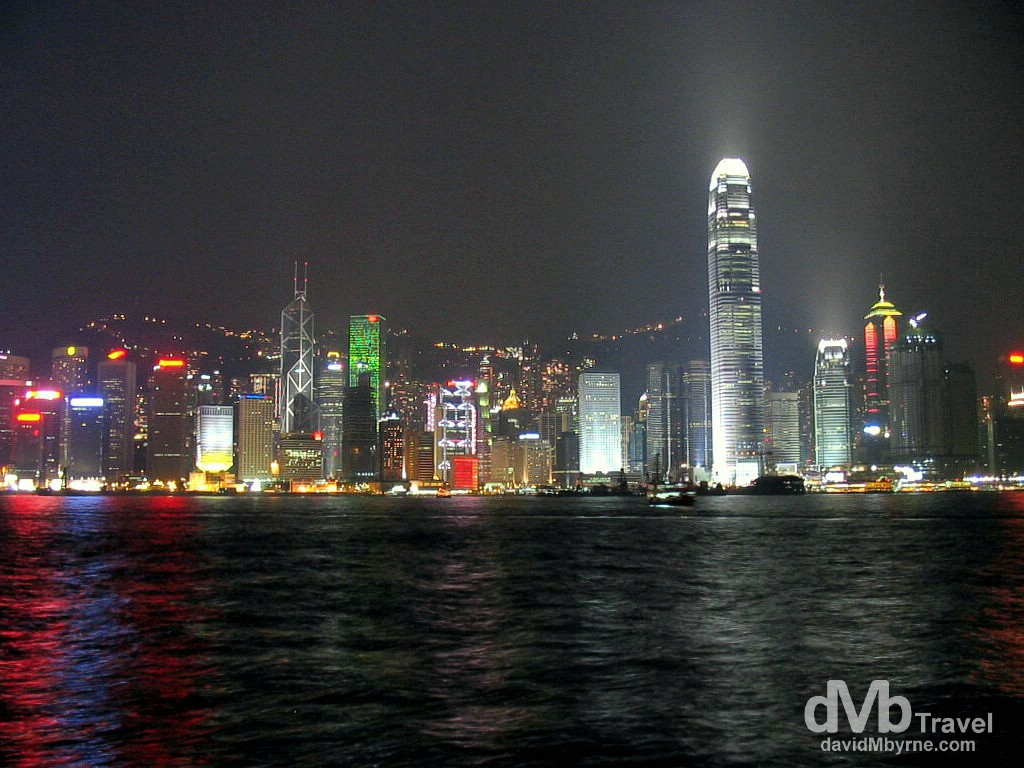 The view of Central from the Kowloon waterfront in Hong Kong, China. September 5th, 2004.