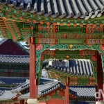 Buildings in the grounds of the UNESCO World Heritage-listed Changdeokgung Palace Complex in Seoul, South Korea. January 18th, 2014.