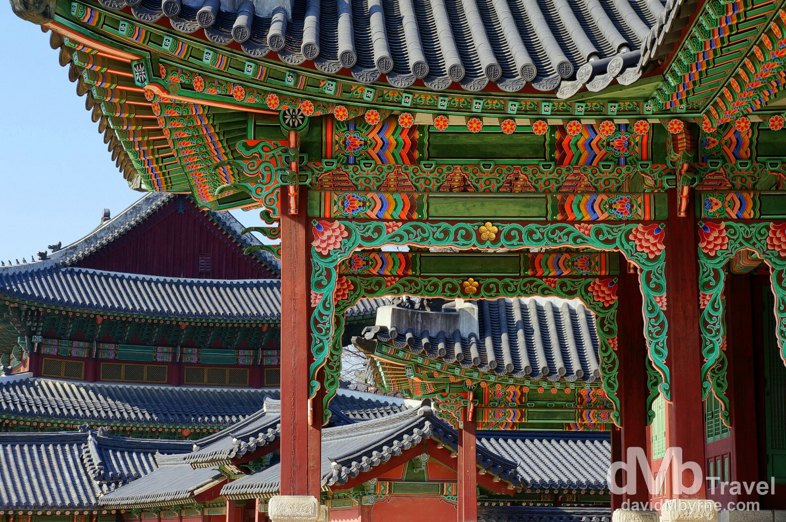 Buildings in the grounds of the UNESCO World Heritage-listed Changdeokgung Palace Complex in Seoul, South Korea. January 18th 2014