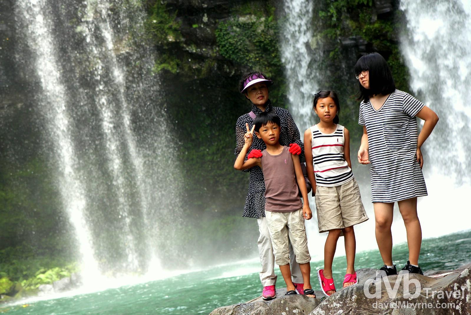 Cheonjiyeon Waterfall, Jeju-do, South Korea. July 16th, 2011