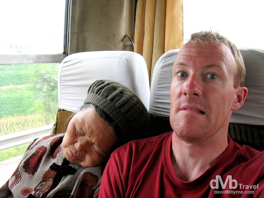 A snoozer of a bruiser. En route from Chongqing to Leshan, Central China. September 19th, 2004.