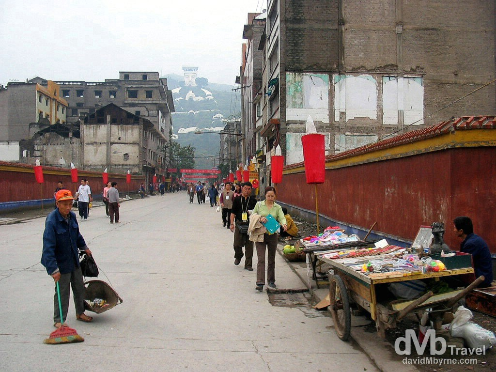 On the streets of Fengdu Ghost City on the north bank of the Yangtze River in Chongqing municipality, central China. September 26th, 2004.