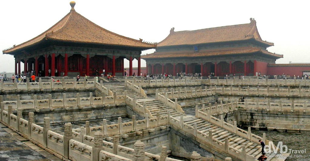 Buildings in the Forbidden City, more accurately called The Palace Museum, Beijing, China. August 25th, 2004