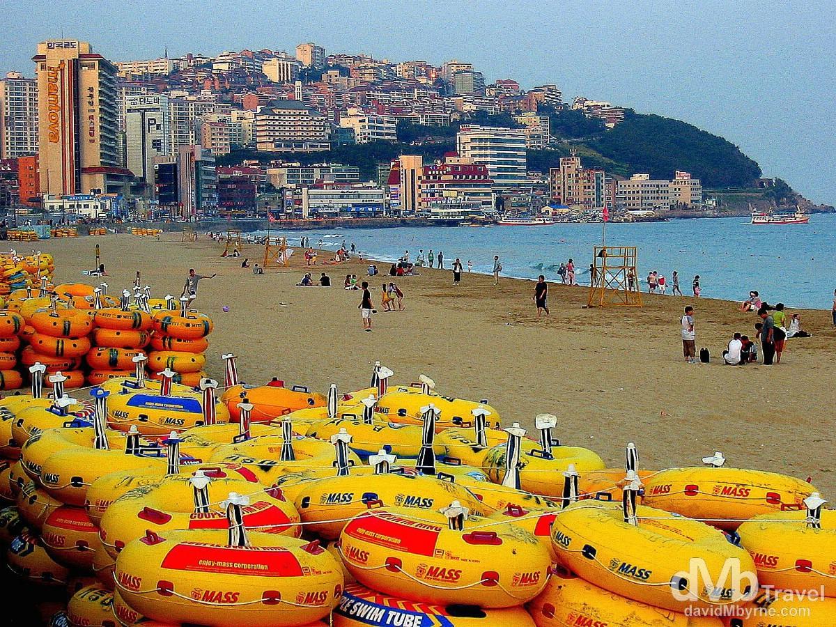 Haeundae Beach, Busan, South Korea. July 19th 2004