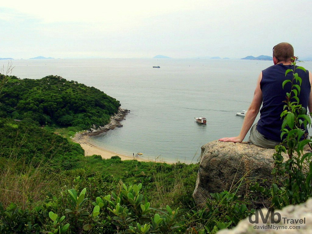Overlooking a small beach on Lamma Island, The New Territories, Hong Kong, China. September 5th, 2004.
